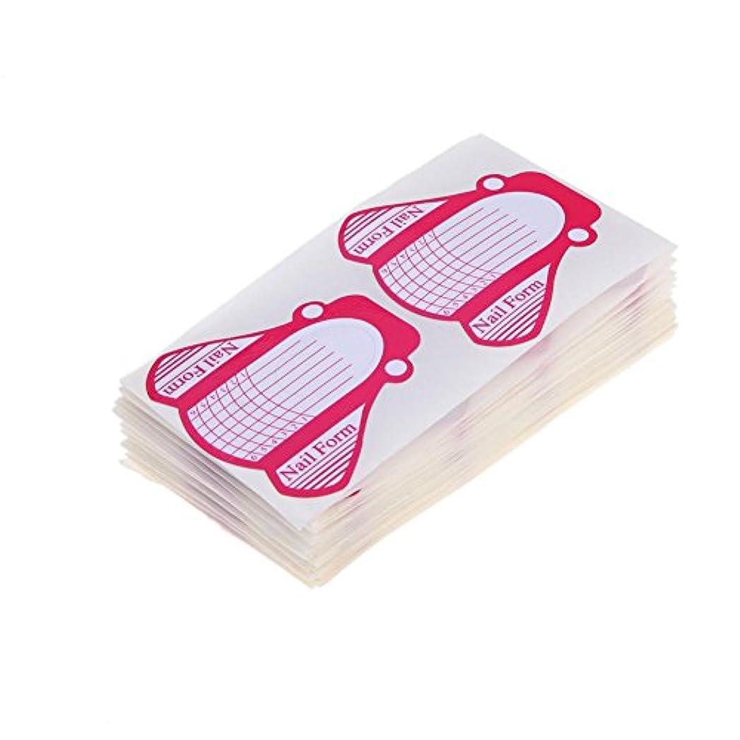 パニック騒会話Highplus 100 Nail Forms for Acrylic UV Gel Nail Art Tip Extension Brand New