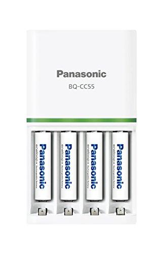 パナソニック エネループ 急速充電器セット 単4形充電池 4...