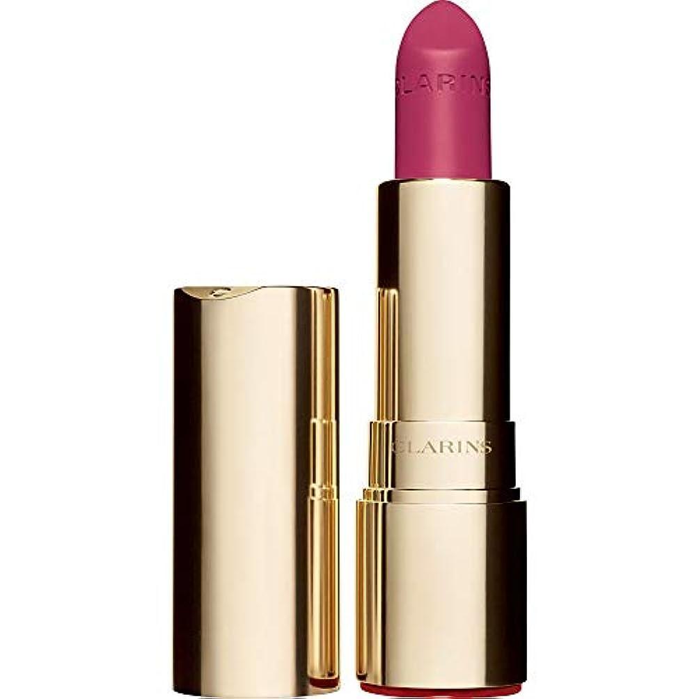 幻想期限不完全な[Clarins] クラランスジョリルージュのベルベットの口紅3.5グラムの723V - ラズベリー - Clarins Joli Rouge Velvet Lipstick 3.5g 723V - Raspberry...