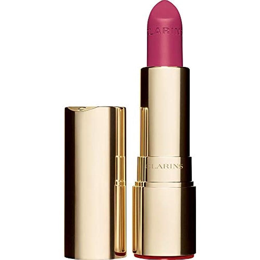 オーク形状ピストル[Clarins] クラランスジョリルージュのベルベットの口紅3.5グラムの723V - ラズベリー - Clarins Joli Rouge Velvet Lipstick 3.5g 723V - Raspberry...