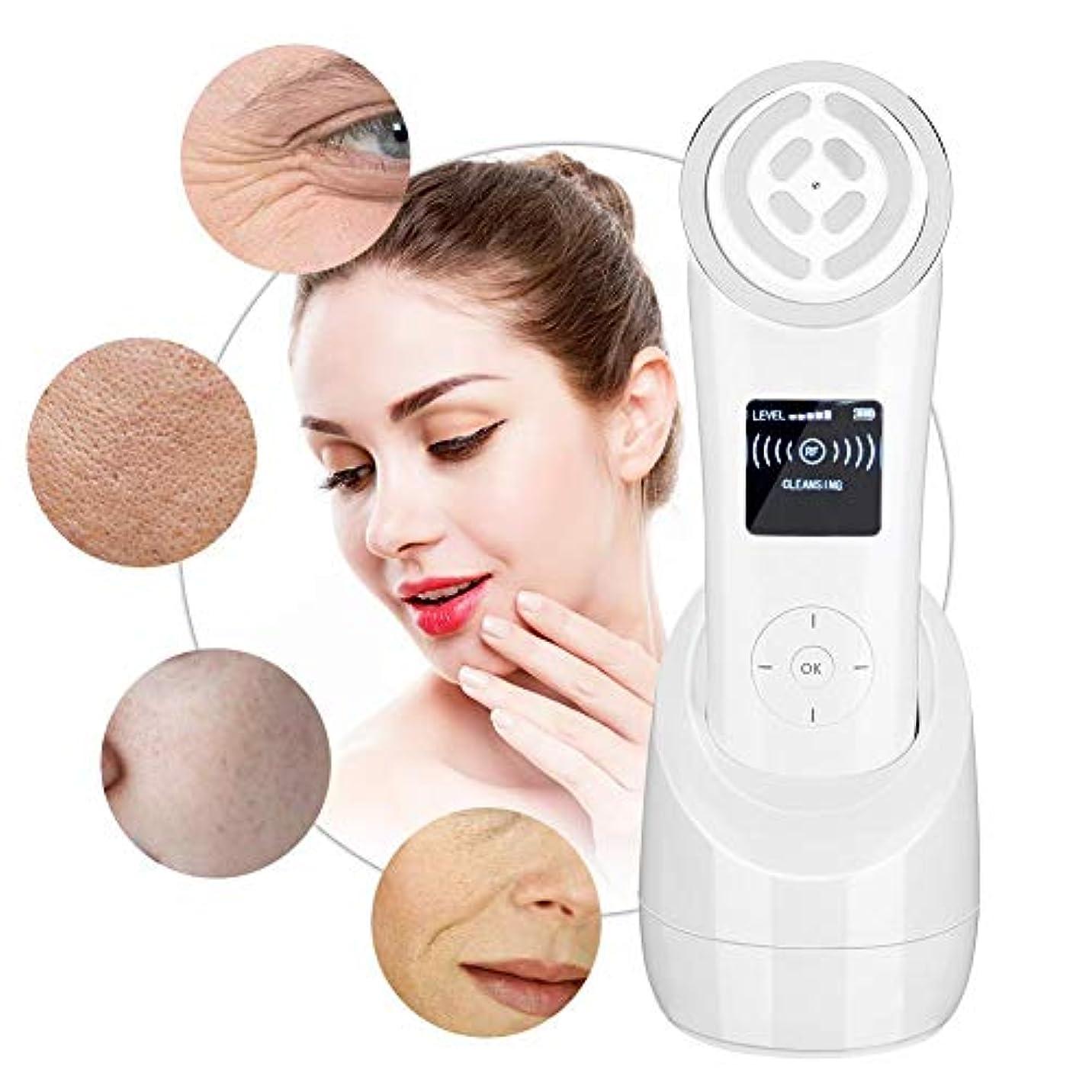 マサッチョ目指すペースト顔の美しさのマシン - RF周波数アンチエイジングアンチリンクル、肌の若返り楽器 - ポータブル若返り肌がEMS筋肉刺激を強化(UE)