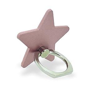 ホワイトナッツ スマホリング スター 星 ローズゴールド バンカーリング 落下防止 スタンド おしゃれ かわいい オシャレ 指輪 デザイン 可愛い シンプル グリップ wn-0814469-wy