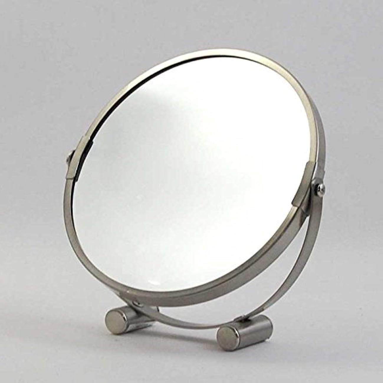胃すすり泣き統治可能卓上ミラー ダルトン ROUND MIRROR ラウンド ミラー A655-723 丸型 両面鏡 拡大鏡付