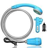 ポータブルシャワー innhom アウトドアシャワー 2つの起動方法 USB充電式 キャンプ 釣り 海水浴 サーフィン 洗車 屋内 屋外のシャワー コンパクト ペットシャワー 防災 植物潅水 軽量 持ち運び