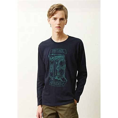 (グラニフ)graniph ベーシックロングスリーブTシャツ / カメラショップサイン ( ネイビー ) M