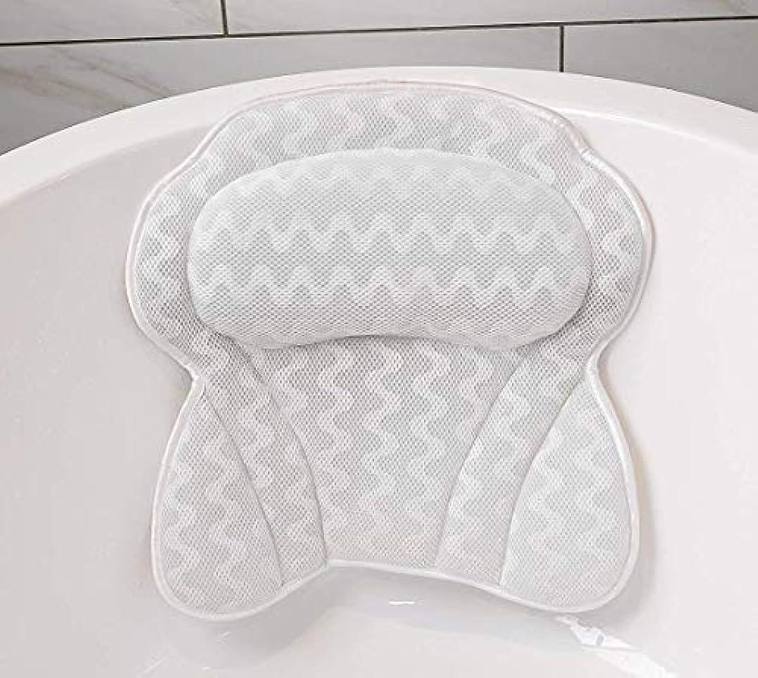 一見制裁砲撃バスタブのための6つの強力な吸盤を備えたバスルームの枕。