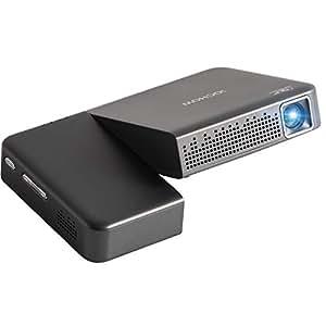 iOCHOW iO2S ミニ プロジェクター 小型 DLP 2000 ルーメン 1080PフルHD対応 1280*720解像度 自動台形補正 パソコン/スマホ/タブレット/ゲーム機/DVDプレイヤーなど接続可能HDMI/AUDIOサポート 充電式バッテリー内蔵 日本語取説