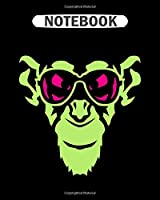 Notebook: monkey animal sun glasses  College Ruled - 50 sheets, 100 pages - 8 x 10 inches