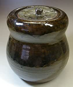 ☆日本六古窯 丹波立杭焼◆森本陶雲作 瓢形灰釉水指◆