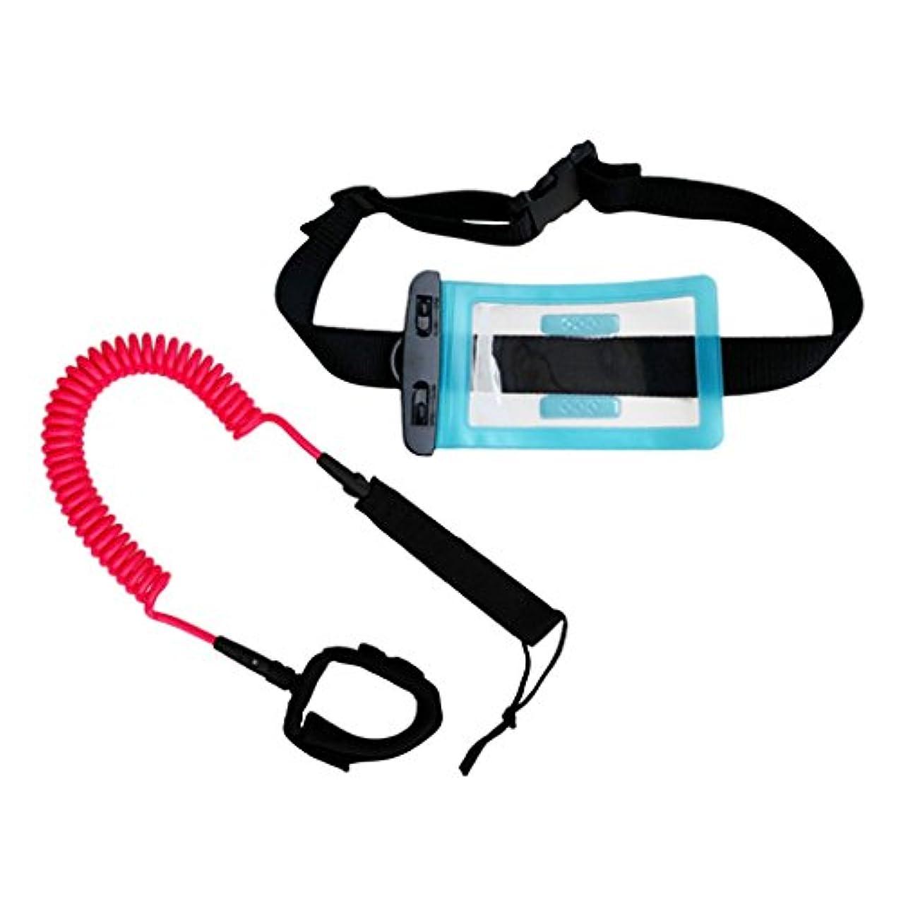 あなたのものミリメーター迷彩Fenteer サーフアンクルストラップ 防水 財布 ドライバッグ付き 10フィート コイル付き 裾引きロープ ロープ 耐久性 全11色