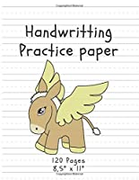 """Handwriting Practice Paper: (Notebook with Dotted Lined Sheets) Pegasus Edition (120 Pages, 8,5"""" x 11"""") (Handwritting)"""