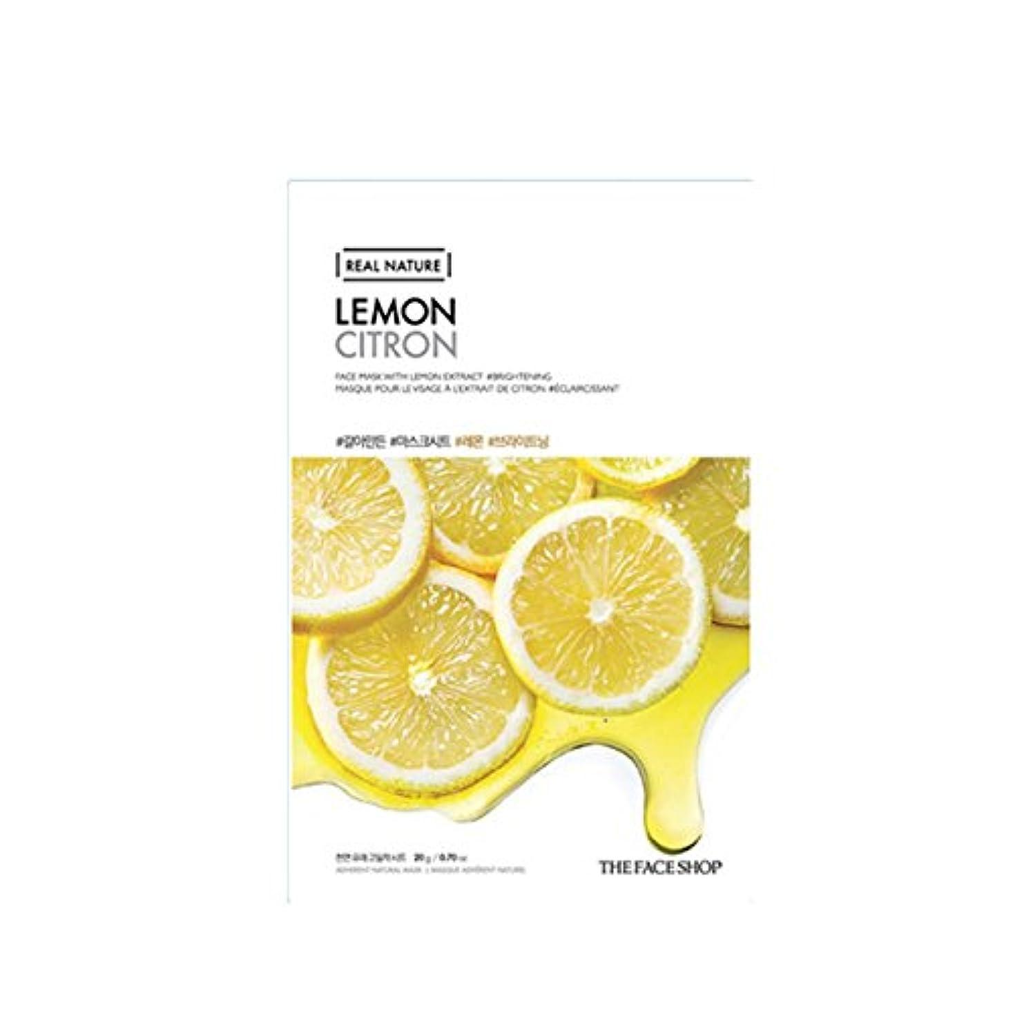 苗アブセイ追い払う[The Face Shop] ザフェイスショップ リアルネイチャーマスクシート Real Nature Mask Sheet (Lemon (レモン) 10個) [並行輸入品]
