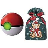 ポケットモンスター ガチッとゲットだぜ! モンスターボール + インディゴ クリスマス ラッピング袋 グリーティングバッグL ギフトベア ダークグリーン ミニカード付 XG084