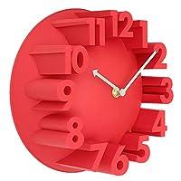 最高の家の装飾創造的な現代美術の3Dナンバードーム丸い壁時計 (Color : 4)