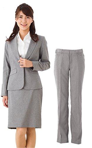 (アッドルージュ) レディース スーツ 3点セット タイトスカート パンツ ジャケット 洗濯可 消臭 抗菌 デオドラント[j5001]
