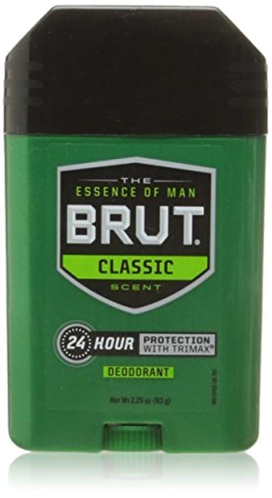 商人続編硬いBrut Oval Solid Deodorant For Men 65 ml (並行輸入品)