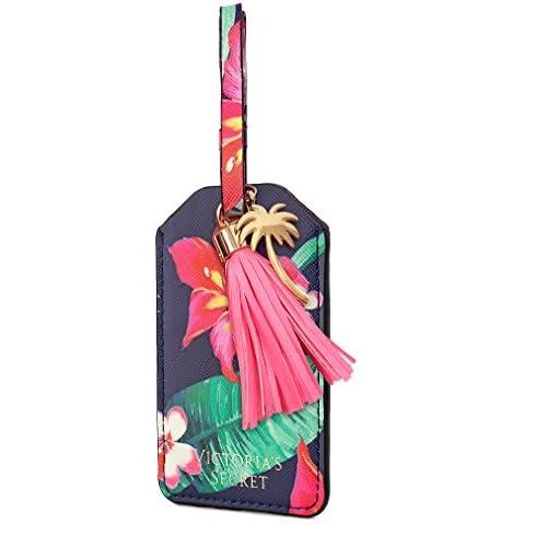 Victoria's Secret(ヴィクトリアシークレット) VS Luggage Tag トロピカル タッセル ID 定期パスケース スーツケース荷物タグ (Floral) [並行輸入品]