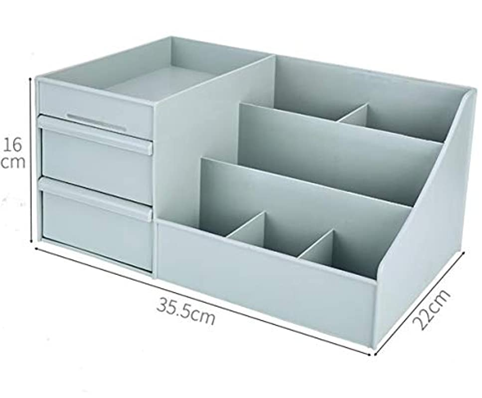 矩形内側ぼかす[ベィジャン] 化粧品収納ボックス メイクボックス メイクケース コスメボックス 小物入れ 化粧品入れ 卓上収納 シンプル コスメ収納 大容量 アクセサリーボックス おしゃれ グリーン