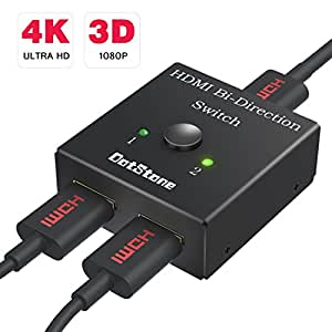 HDMI切替器 双方向 hdmiセレクター 4K/3D/1080p対応 hdmi分配器 1入力2出力/2入力1出力 手動切替 電源不要