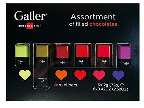 【 Galler (ガレー) ベルギー王室御用達 チョコレート 】 ミニバー 6本入り 2019年限定パッケージ (1箱)