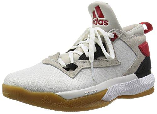 [アディダス] adidas バスケットボールシューズ D リラード 2 F37123 F37123 (ランニングホワイト/コアブラック/スカーレット/28.0)