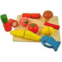 mdream オリジナル おままごと とんとんしましょ 木 マジックテープ セット 野菜 果物 魚 包丁 まな板