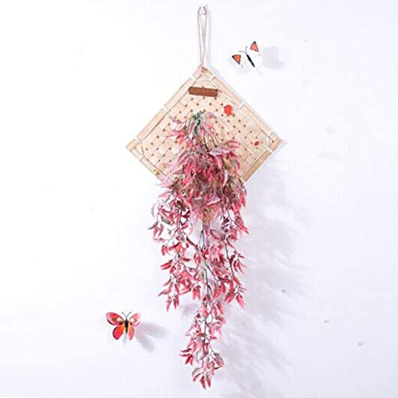 めまいが軍団調子Aishanghuayi 風チャイム、クリエイティブ?竹ホームデコレーション風チャイム、パープル、幅38.5CM,ファッションオーナメント (Color : Pink)