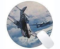 円形のマウスパッド、Curtiss P 40 Warhawk Warplaneの大きい賭博のマットの賭博