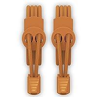 RJ-Sport ゴム製結ばない靴紐 スニーカー 伸びる靴紐 ほどけない 簡単取り付け 靴紐が解けてイライラを解消 脱ぎ履きが楽々 子供から高齢者までも対応 (オレンジ) (橙)