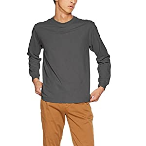 [ヘインズ] Tシャツ Beefy ロングスリーブ H5186 メンズ ダークグレー 日本 M (日本サイズM相当)
