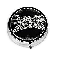 ピルケース BABYMETAL?logo 薬ケース 携帯サプリメント 薬入れ 小物入れ 薄型 ステンレス製 オシャレ 高級感