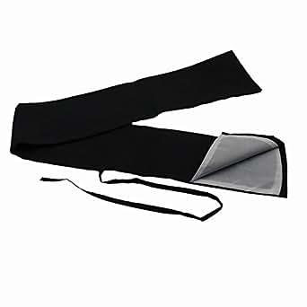 JomMart 刀袋 黒色 内側 白色 中 、日本刀・模造刀・竹刀の保管・収納 HB0306