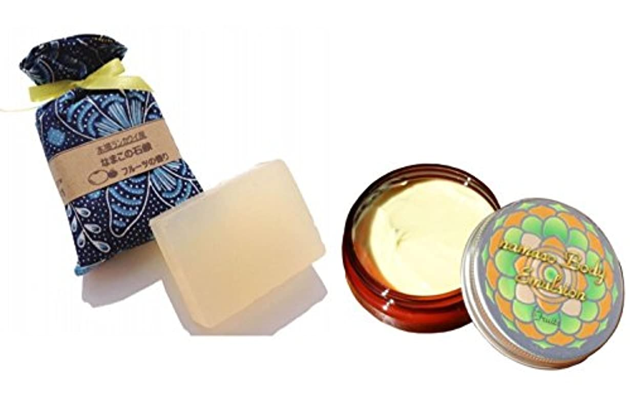 ビリーヤギ扱いやすい因子なまこフルーツセット なまこ石鹸90g+なまこBODYエマルジョン50g(なまこクリーム)