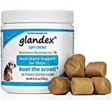 Glandex Soft Chews 30 Count, Anal Gland Fiber, Pumpkin & Probiotic Digestive Supplement for Dogs