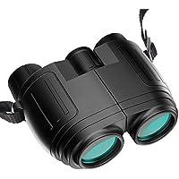 SonRu 双眼鏡 コンサート おすすめ 10×25 10倍 7.0°軽量 高倍率 メガネ対応 小型 防水 ミニ望遠鏡 目の疲れにくい 折り畳み ドーム 旅行観光 野球観戦 運動会 観劇 アウトドア ストラップ 収納バッグ付き