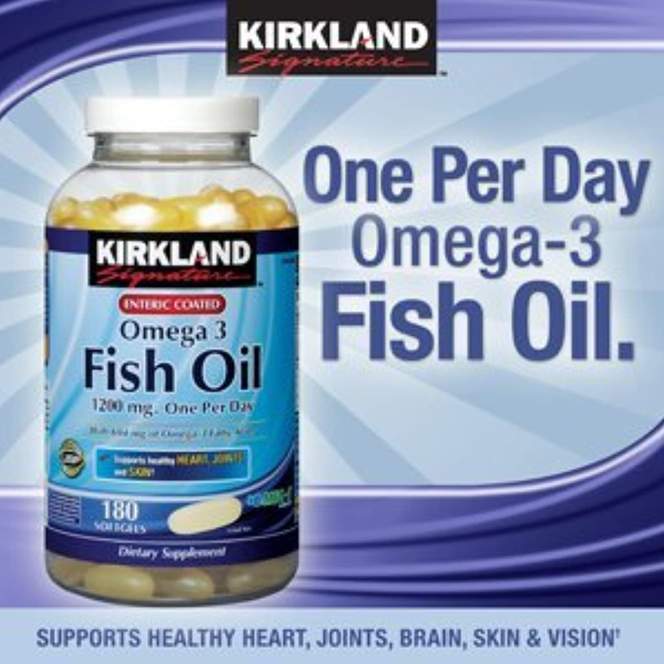 反発する締める課すカークランド フィッシュオイル オメガ3 コンセントレイト 1200 mg 180ソフトカプセル 海外直送品