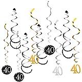 KESOTO 12枚セット 渦巻きバナー 数字 誕生日パーティー 写真小物 4仕様選べ - 40