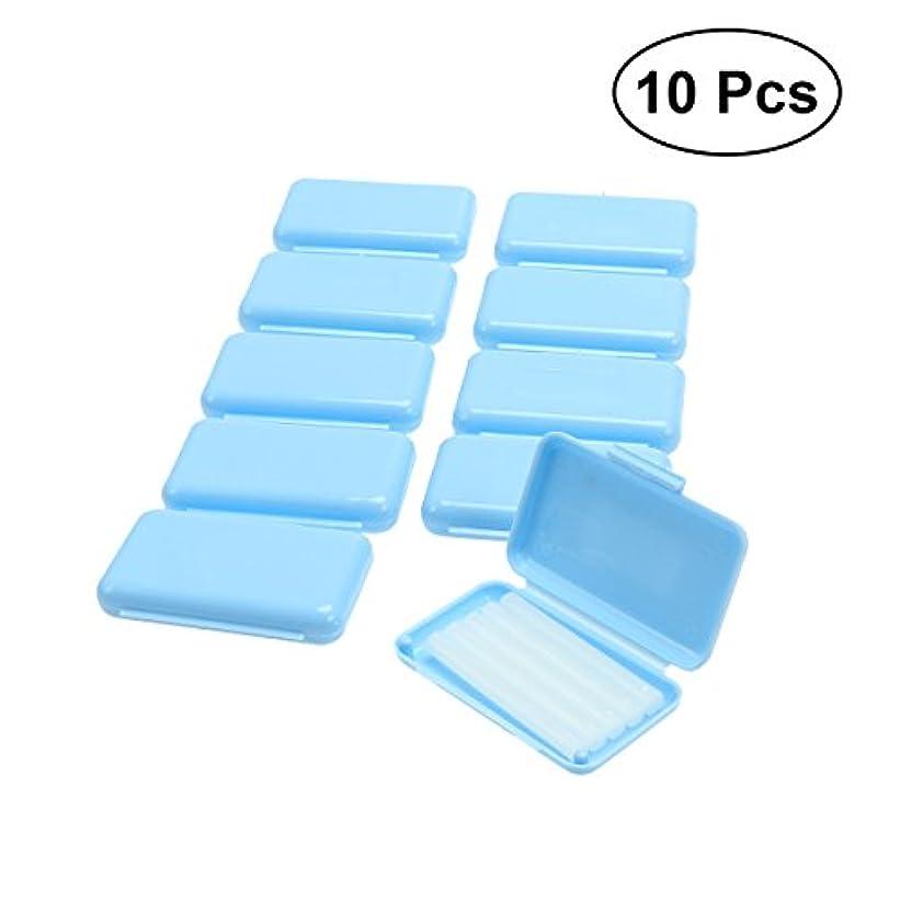 カルシウム説得力のある人口SUPVOX 10PCS歯列矯正用矯正ワックス(青色ミントフレーバー)