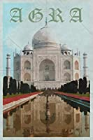 Agra: Uttar Pradesh Taj Mahal India Daily Notebook Journal Diary Notepad