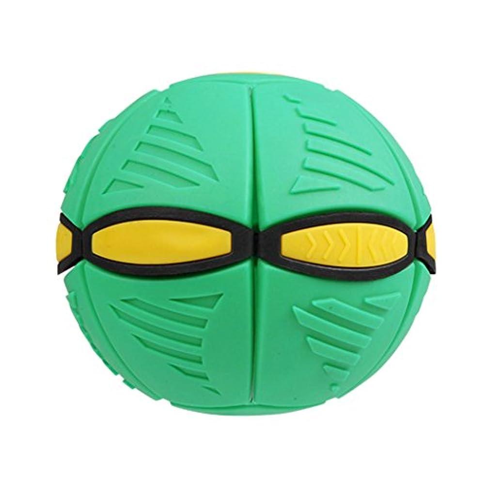 マイク教えつぶすjingjing1フリスビーボールゲームフラットThrow Disc LEDライト変形キャッチボールSpiderman Kidsアウトドアおもちゃ