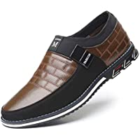 Men's Casual Shoes Driving Moccasin Slip on Shoes Classic Loafers Oxford Business for Male Busines Walking Office Dress Outdoor