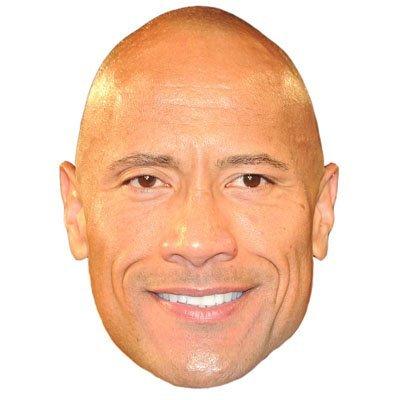 "Dwayne "" The Rock "" Johnson Celebrityマスク、ダンボール面、ファンシードレスマスク"