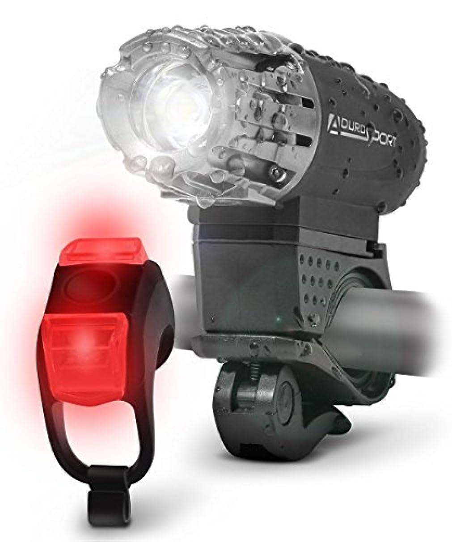 線形意欲熟すAduro 自転車ライトヘッドライトとテールライトusb充電式自転車ledライトキット