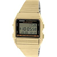 Casio Men's DB380G-1 Gold Gold Tone Stainles-Steel Quartz Watch with Digital Dial