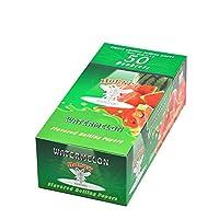 Esolom フルーツ風味のシガレットペーパー(2巻、合計100枚)ナチュラル 快適な 未漂白 未定義 オーガニック ミント パイナップル イチゴ メロン