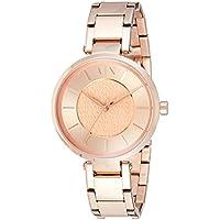 Armani Exchange Women's AX5317 Olivia Analog Quartz Rose Gold-Tone Watch
