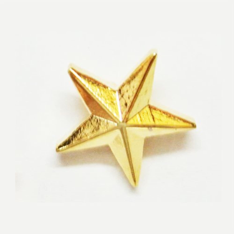 星型バッジ (金)