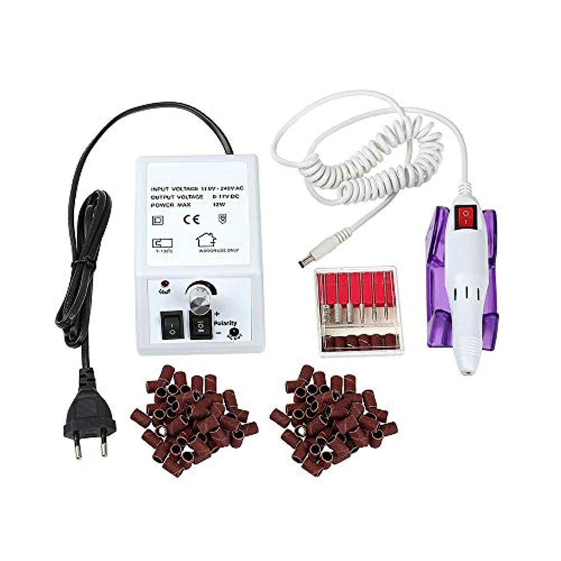 潮険しいスキム電気ネイルドリルマシン、20000RPMポータブルネイルドリルマシン、マニキュアとペディキュア用のネイルポリッシャーセット付きの電気ネイルファイルセット