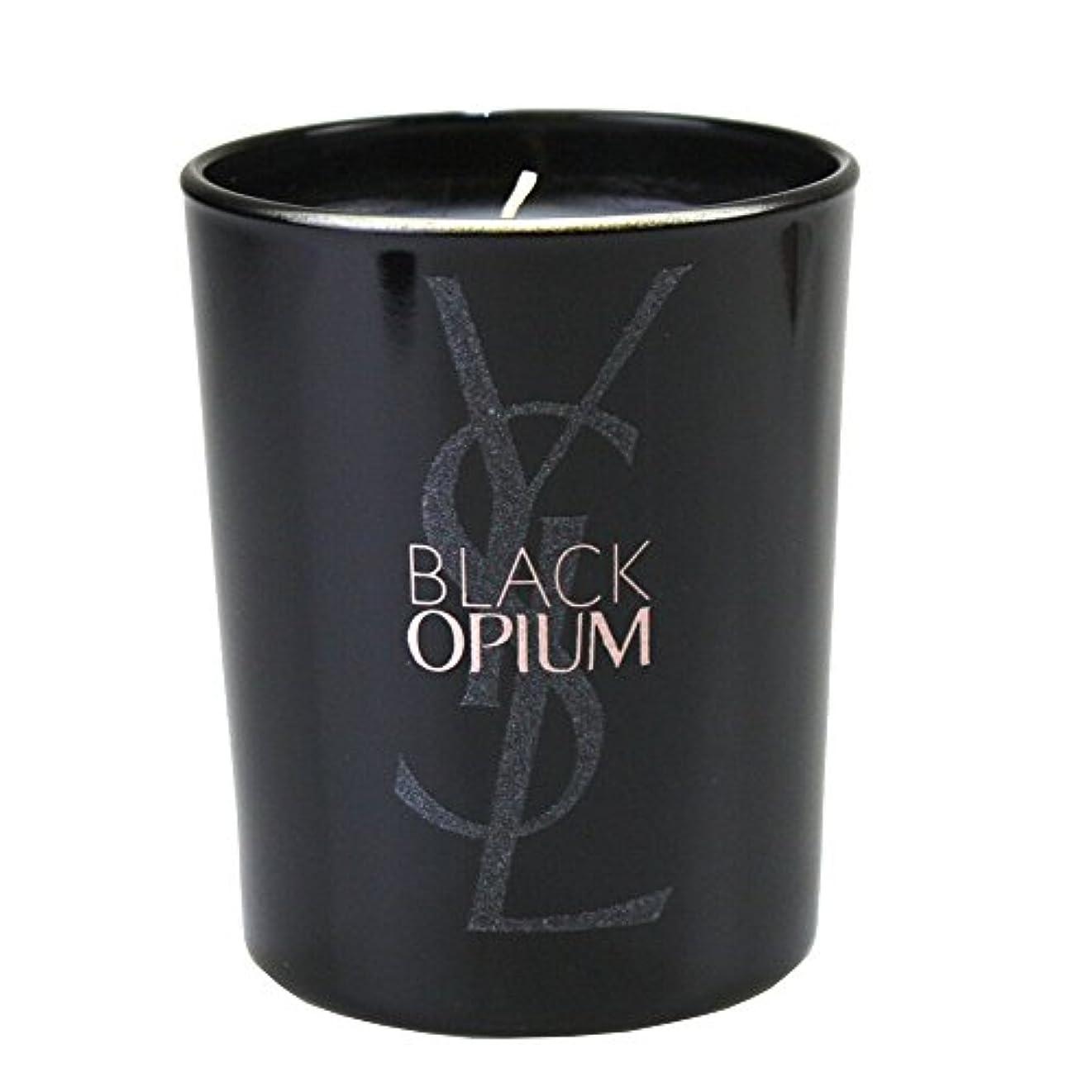 (イヴ サンローラン) Yves saint Laurent アロマキャンドル パリジェンヌ BLACK OPIUM 化粧 メイク コスメ ロゴ 黒 ブラック フルーティー フローラル コーヒー ジャスミンティーペタル