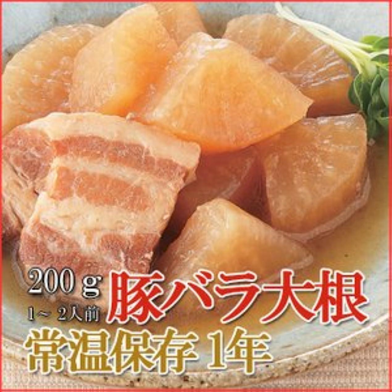 合唱団ジーンズ八レトルト 和風 煮物 豚バラ大根 200g (1-2人前) X5個セット (和食 おかず 惣菜)